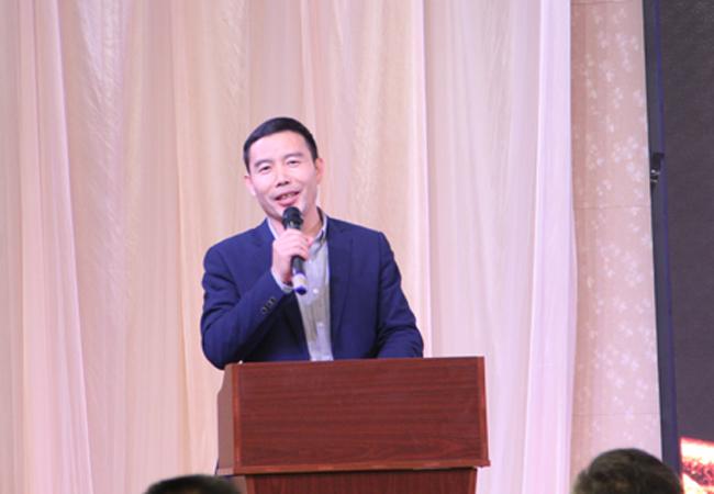 """力净企业举办主题为""""2019梦想起航""""的2019年迎新对联欢晚会"""